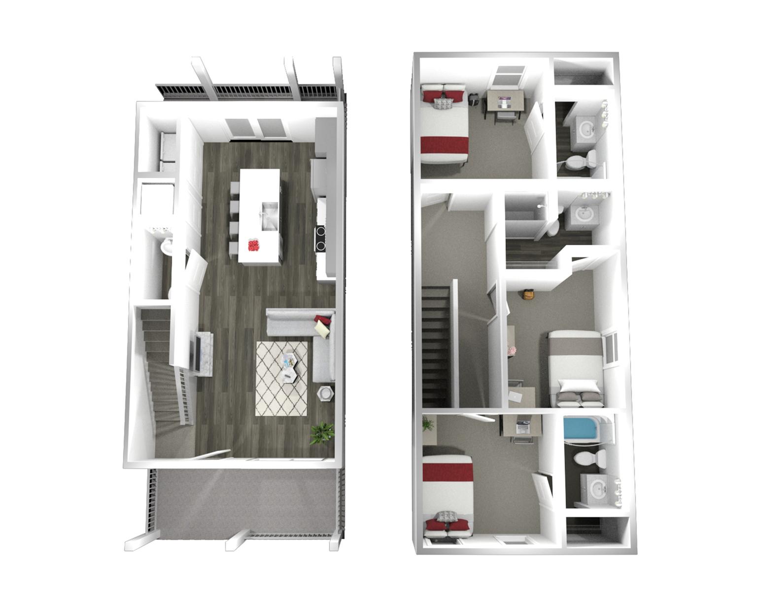 The Three House