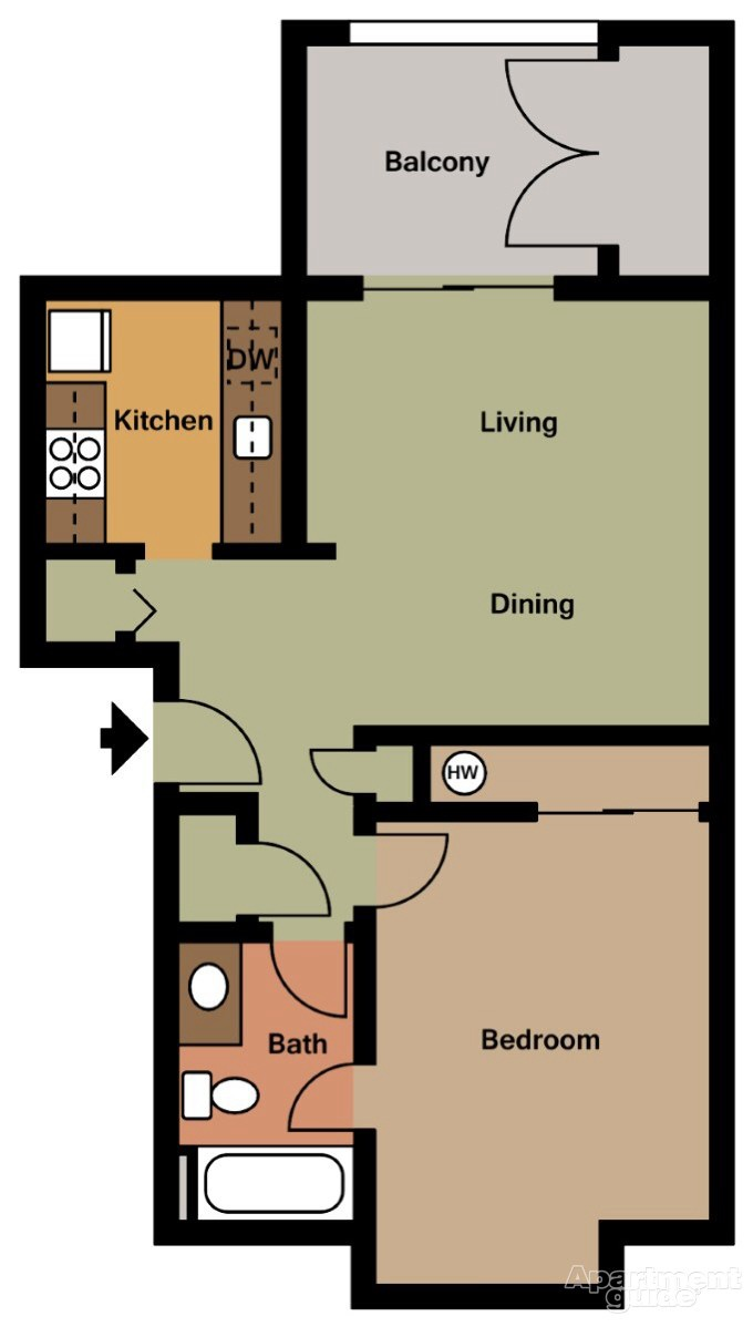 1 Bed 1 Bath Apartment In Gig Harbor Wa The 4425