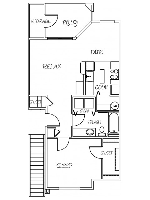 1 Bdrm Floor Plan 2 | Puyallup Wa | Silver Creek