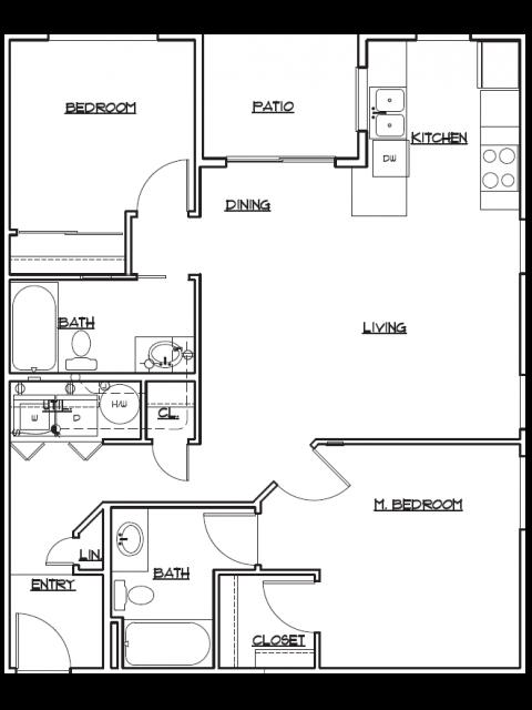 Floor Plan 3 | Tacoma Rentals | 5100 Summit