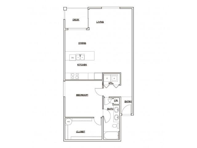 Floor Plan 2 | Tacoma Apartments | 5100 Summit