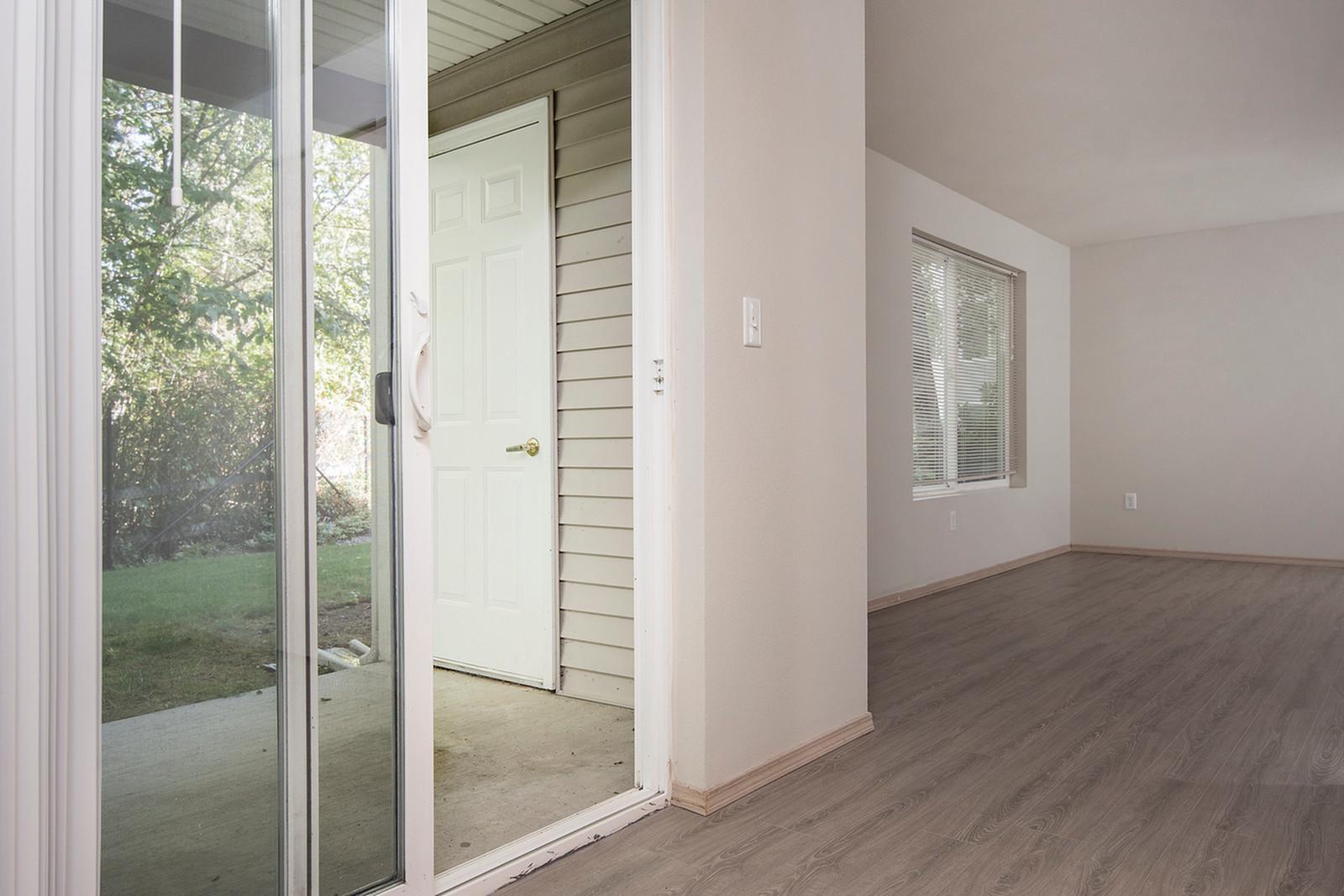 Spacious Porch Area | Tacome WA Apartments | Nantucket Gate