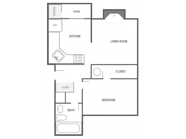 One Bedroom Apartment, Stonegate Apartments In Lakewood, WA
