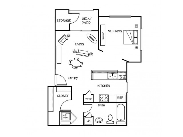 Studio Standard Floorplan