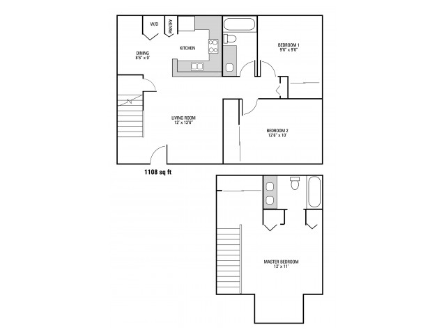 3x2 Townhome Floorplan