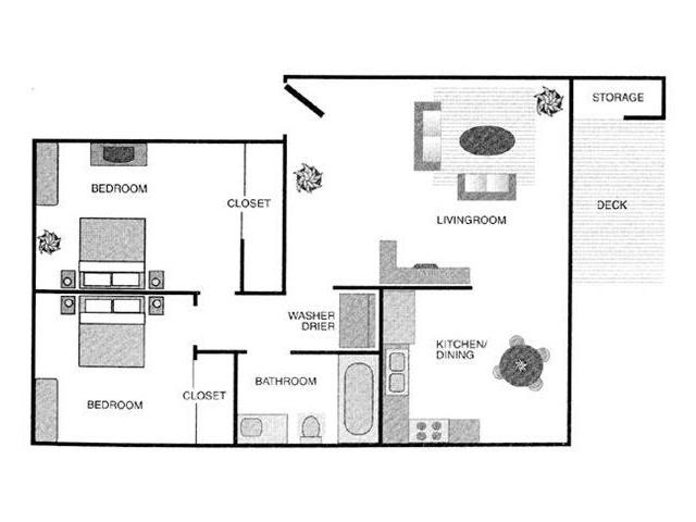 2x1 Deluxe Floorplan