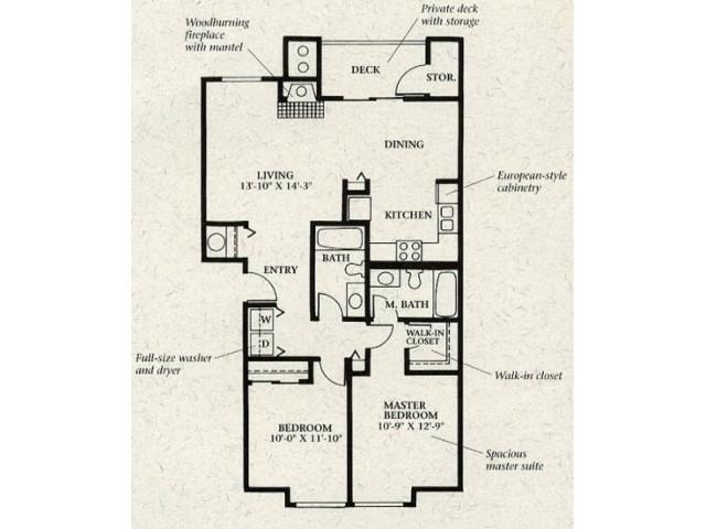 2x2 Standard Floorplan