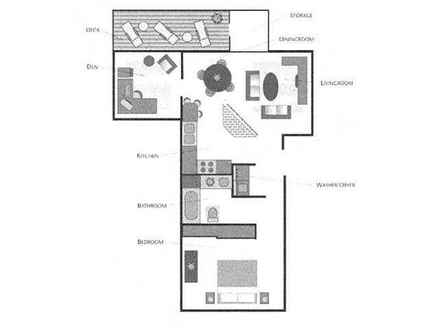 1x1 with Den Floorplan