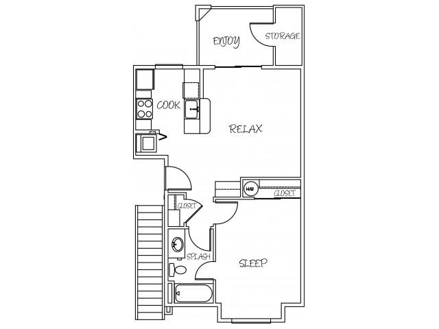 1x1 Standard Floorplan
