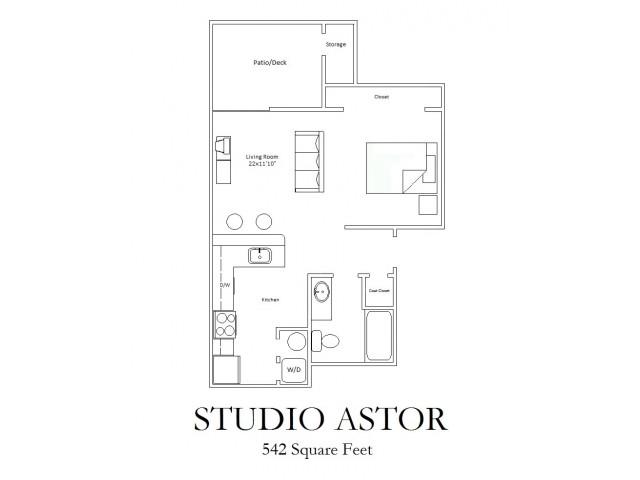 Studio Deluxe Floorplan