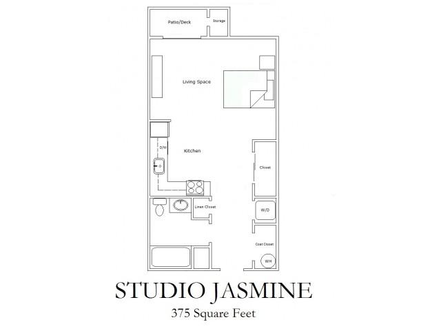 Studio Economy Floorplan