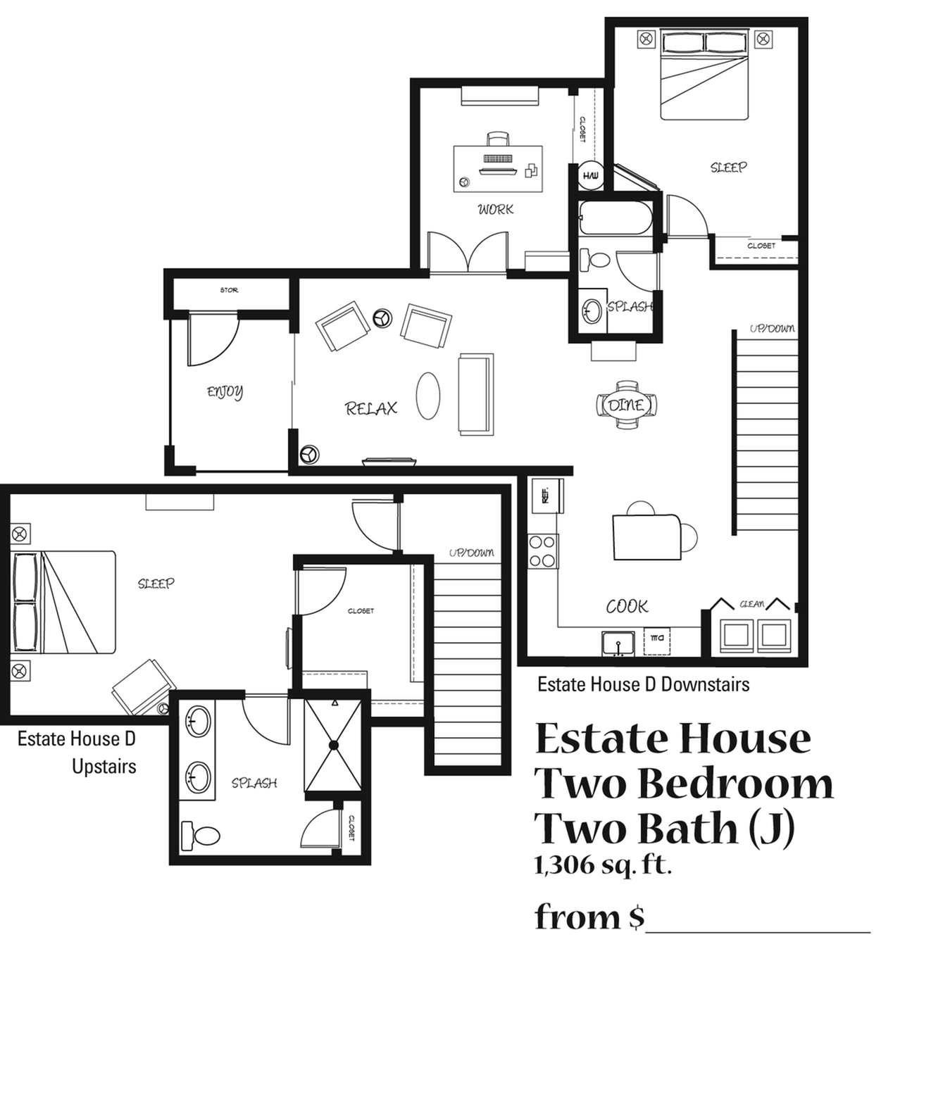 Three Bedroom, Two Bath Apartment at the 4425