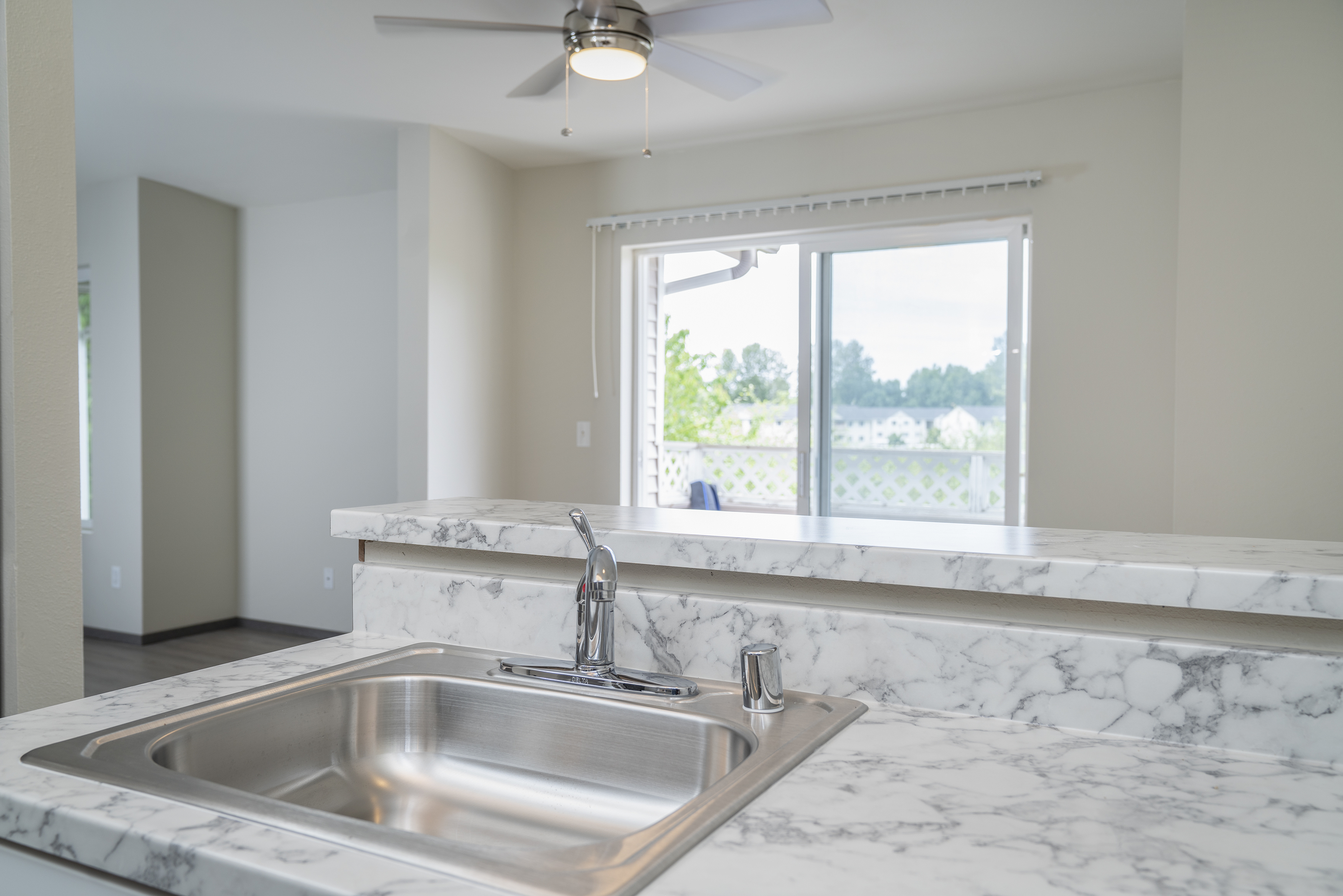 Image of Laminate Countertops with White Marble Design for Nantucket Gate