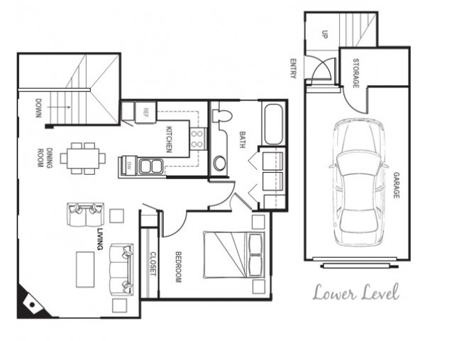 Port Landing at Fife Apartments, 1 bedroom w/ Garage