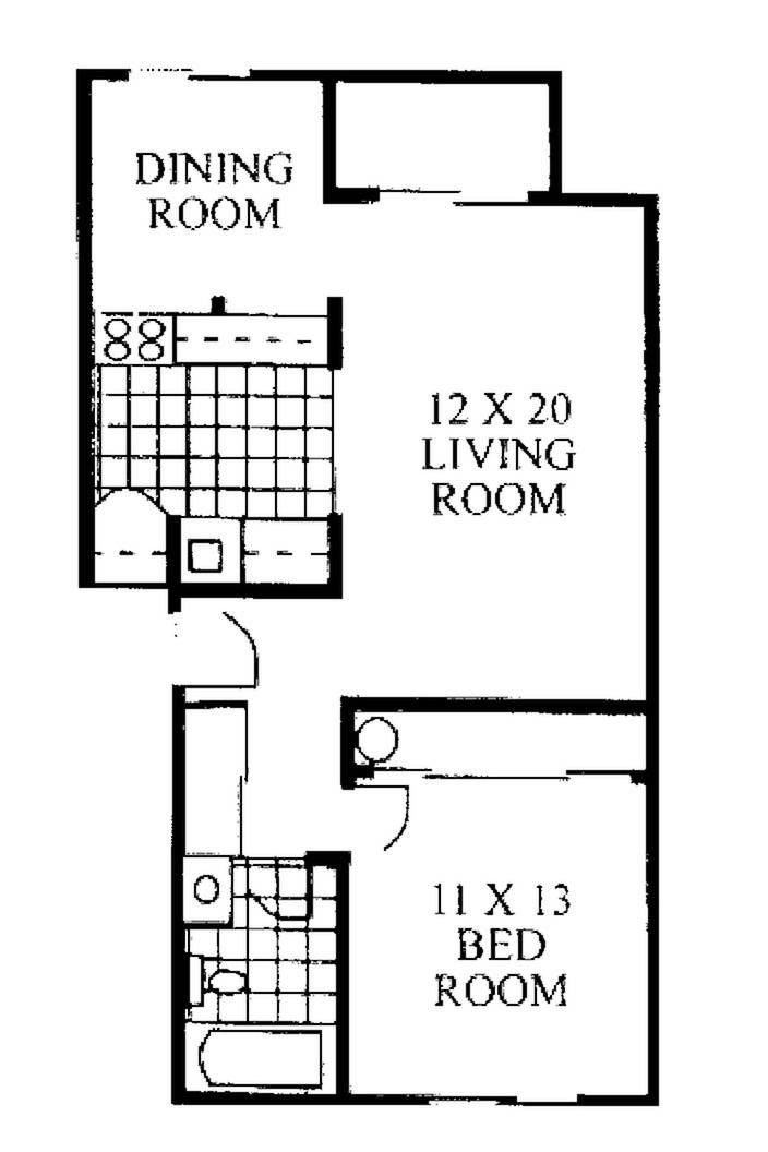 1 Bedroom - Income Restrictions