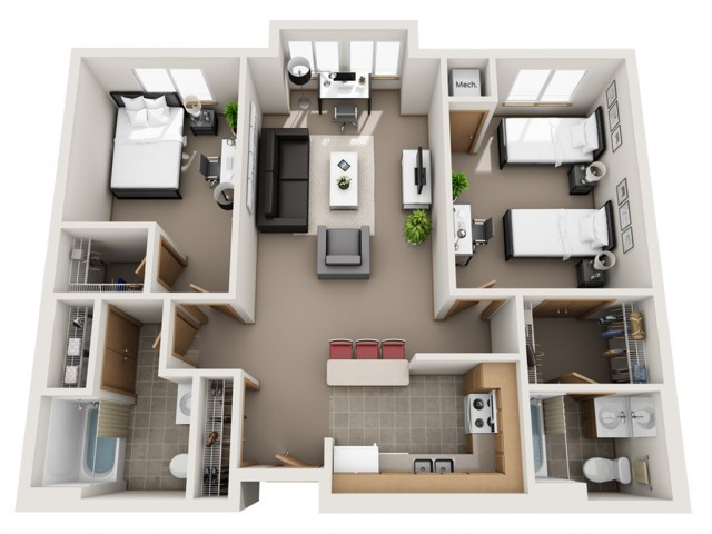 Floor Plan B - Our most common floor plan.