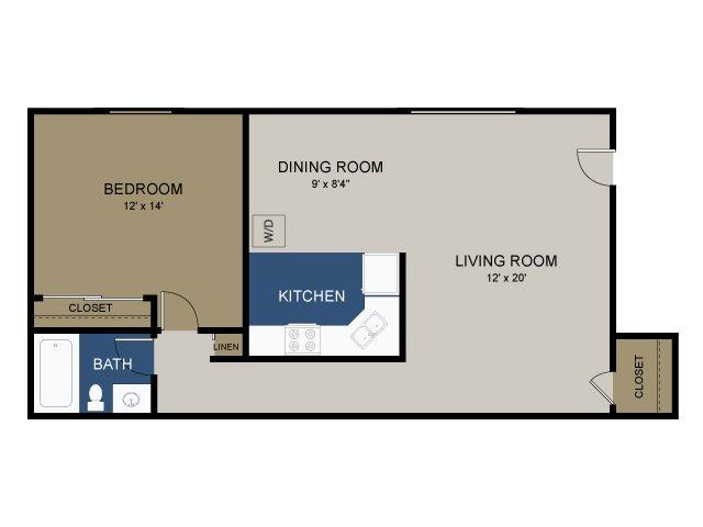 1 Bdrm Floor Plan | Apartments For Rent In Douglassville Pa | Amity Garden Apartments 2