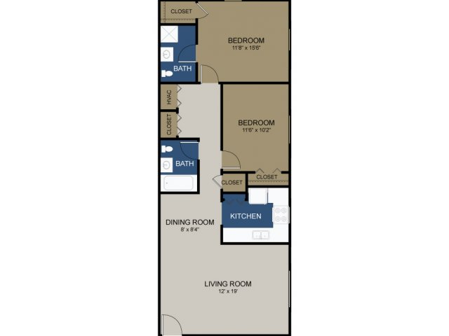 Floor Plan 3 | Morrisville PA Luxury Apartments | Wellington Woods