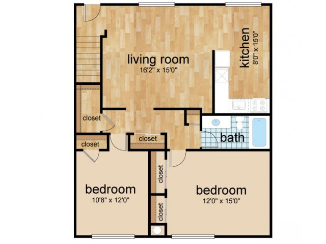 2 Bedroom Floor Plan | Apartments In Lumberton | Sterling Glen