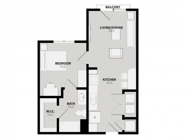 Floor Plan 1 | UA Off Campus Housing Tuscaloosa | 513 Rock Point