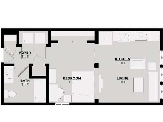 Floor Plan 2 | UA Apartments Alabama | 513 Rock Point
