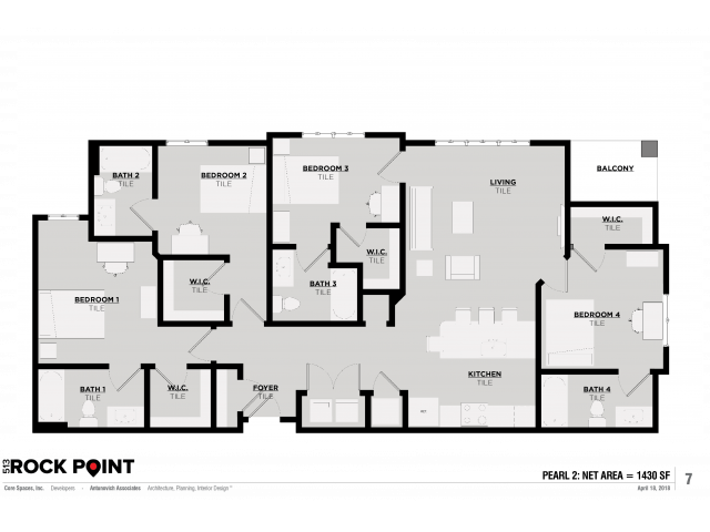 Floor Plan 8 | Tuscaloosa Apts | 513 Rock Point