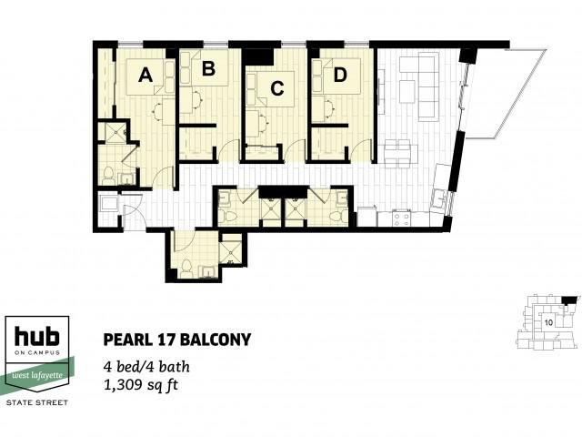 Pearl 17 Balcony