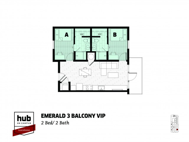 Emerald 3 - Balcony - VIP - Stadium View