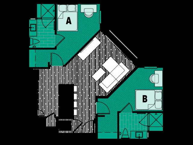 Emerald 1 - Juliet Balcony - VIP