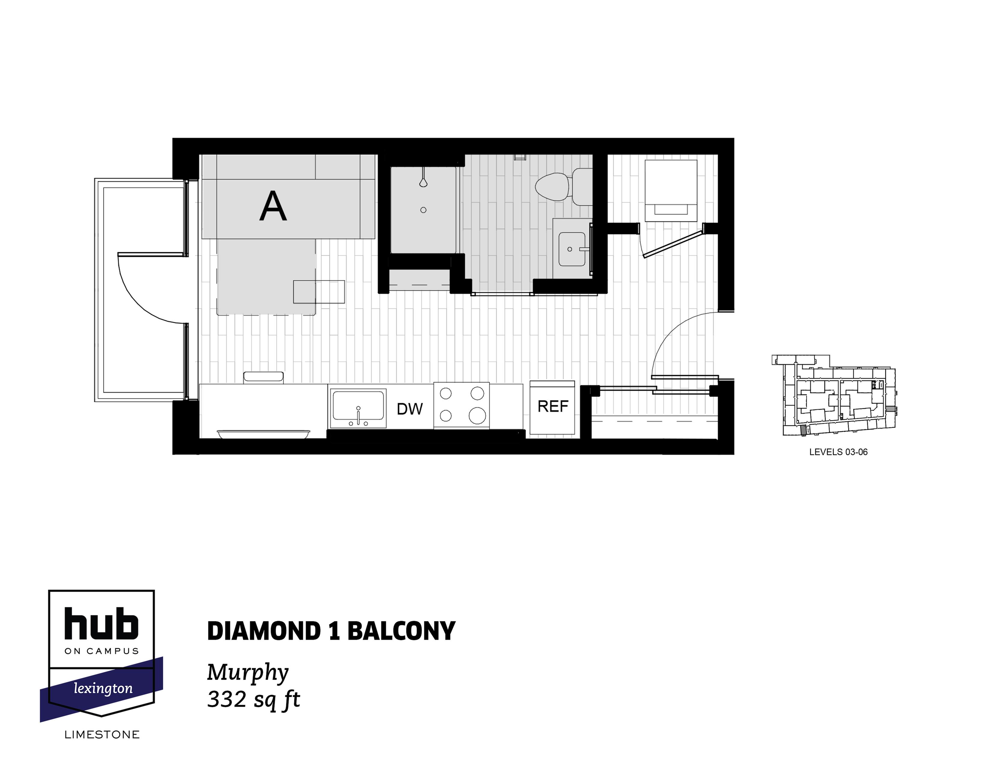 Diamond 1 Balcony