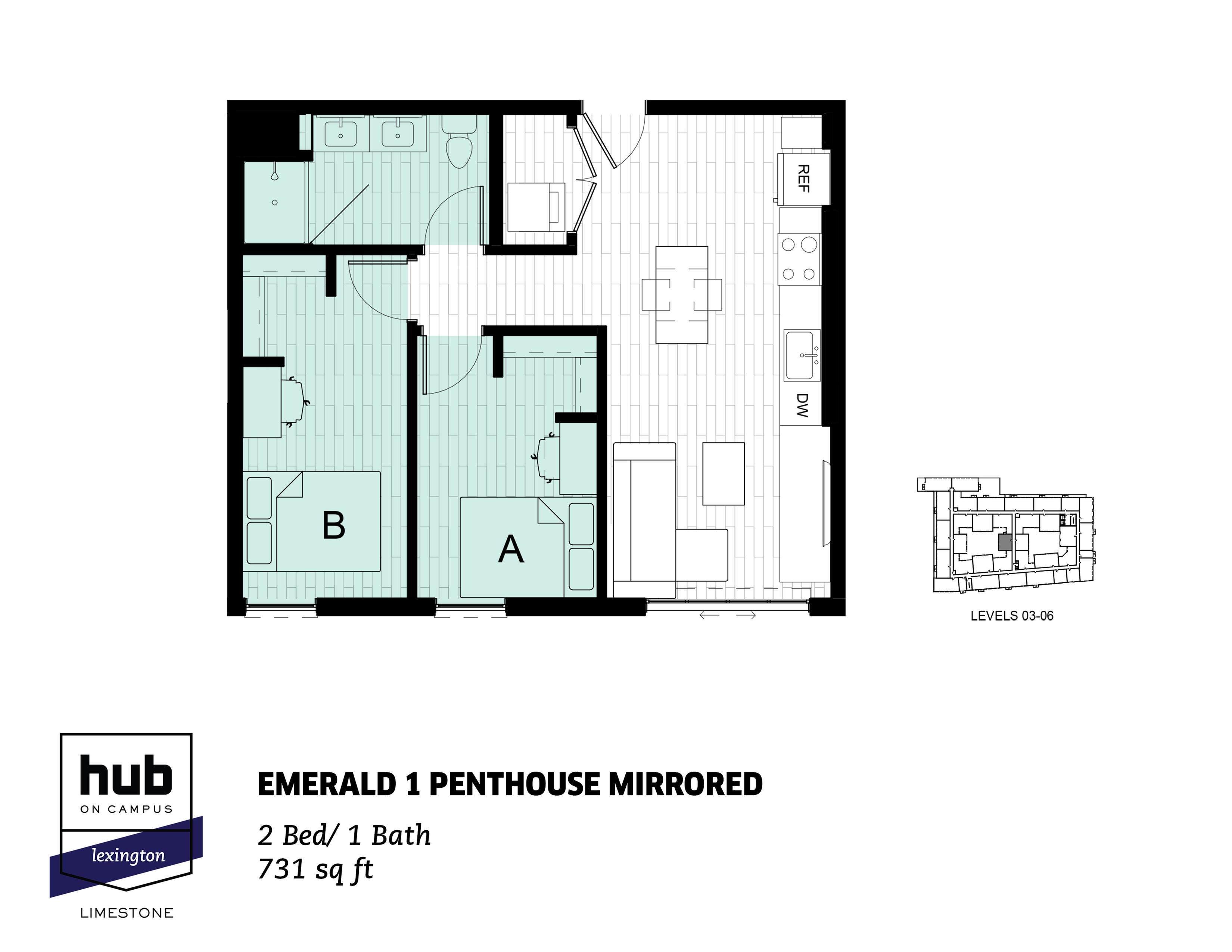 Emerald 1 Penthouse Mirrored