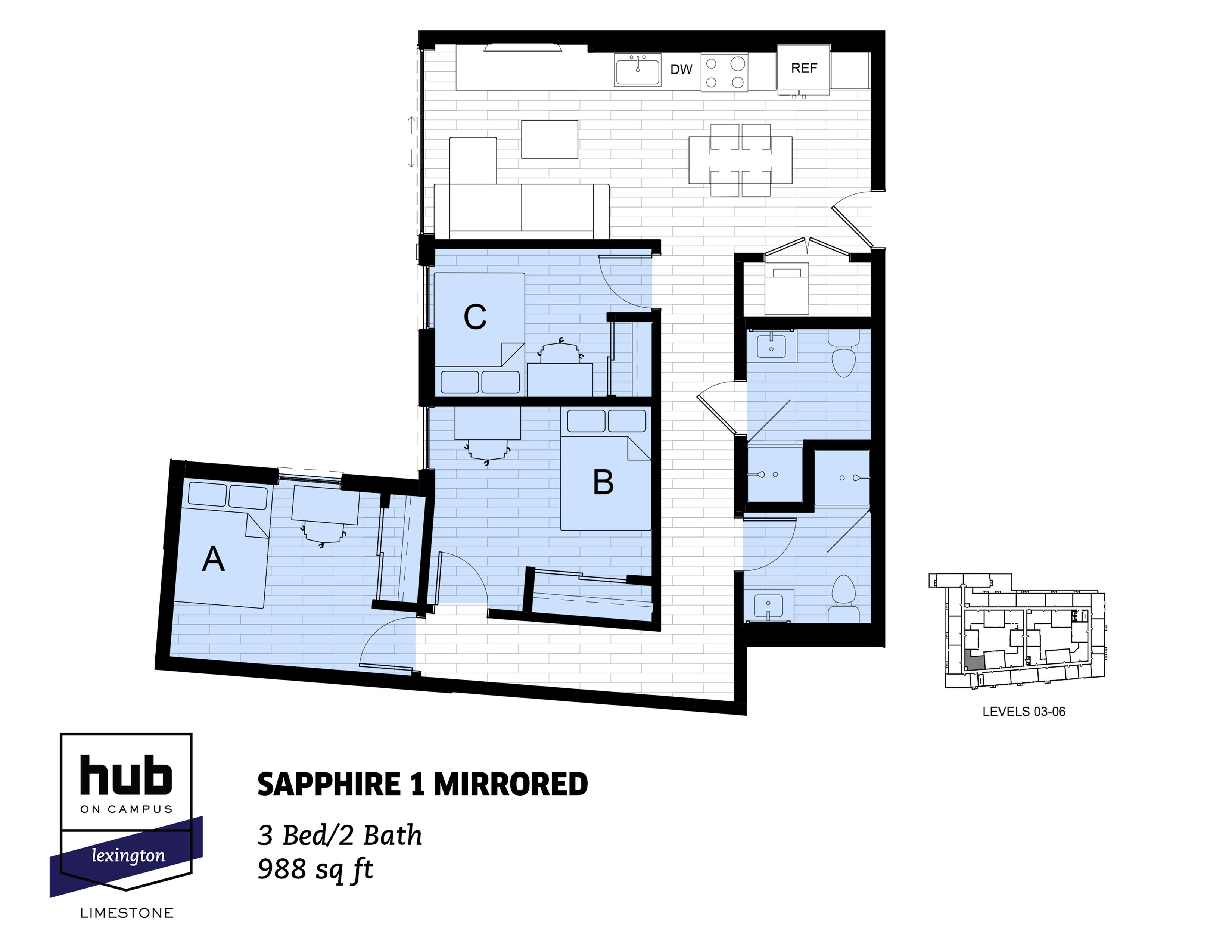Sapphire 1 Mirrored
