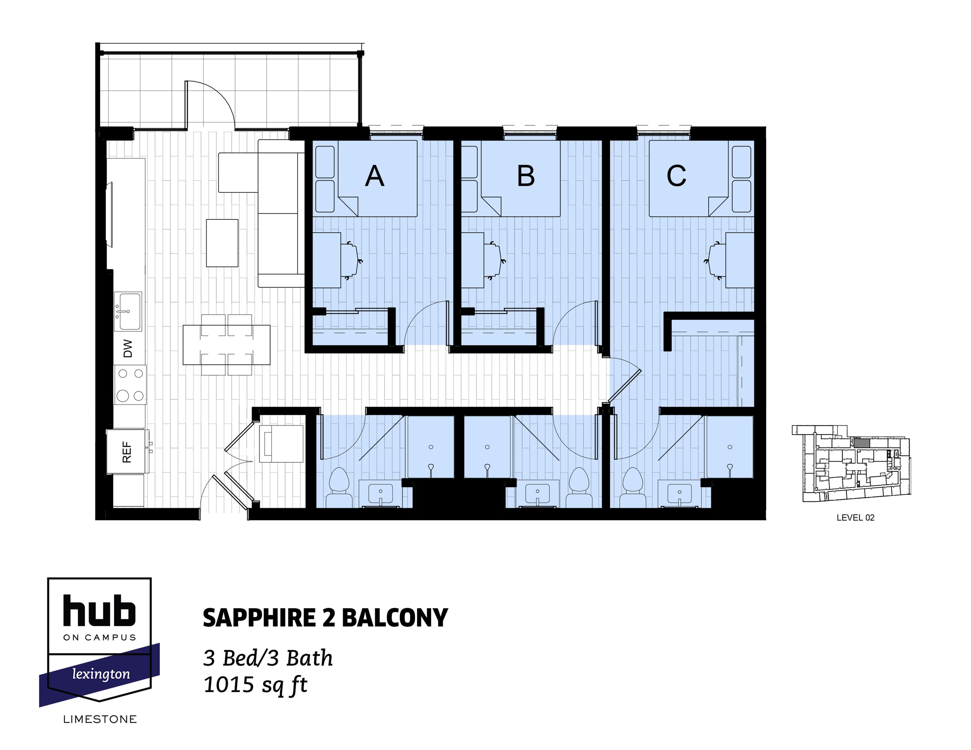 Sapphire 2 Balcony