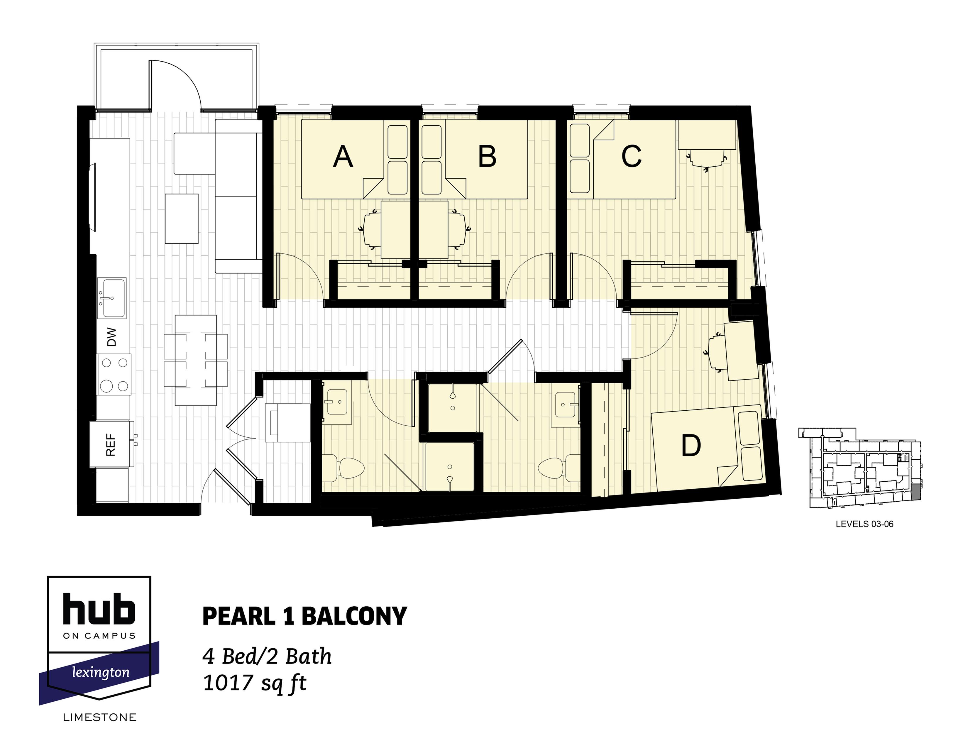 Pearl 1 Balcony
