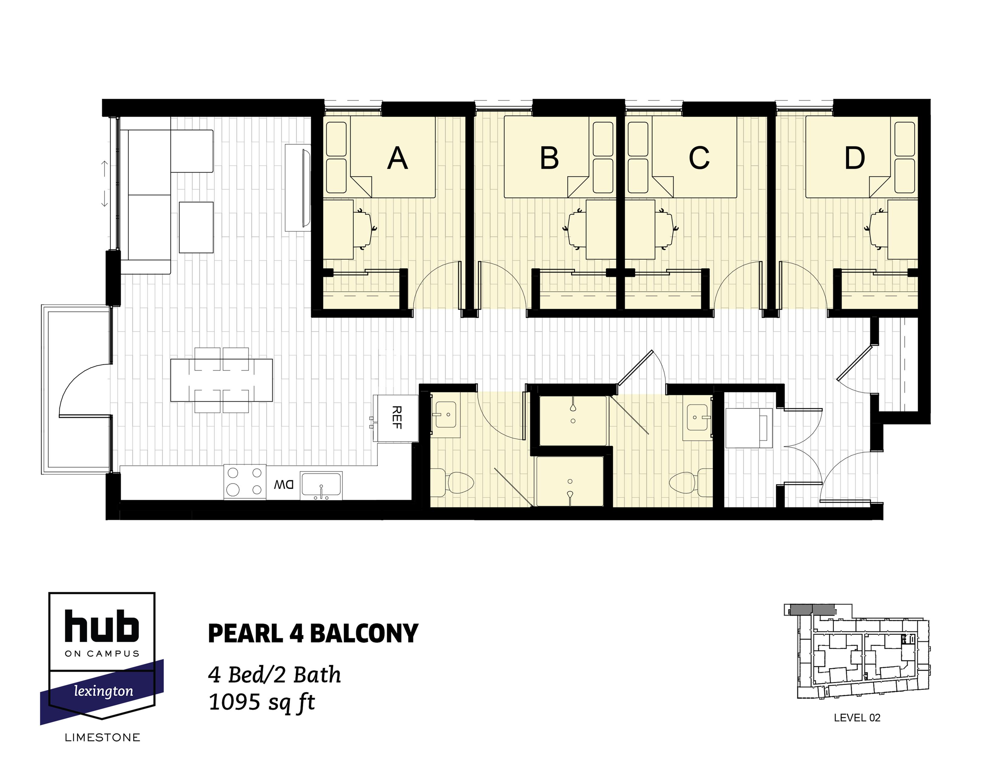 Pearl 4 Balcony