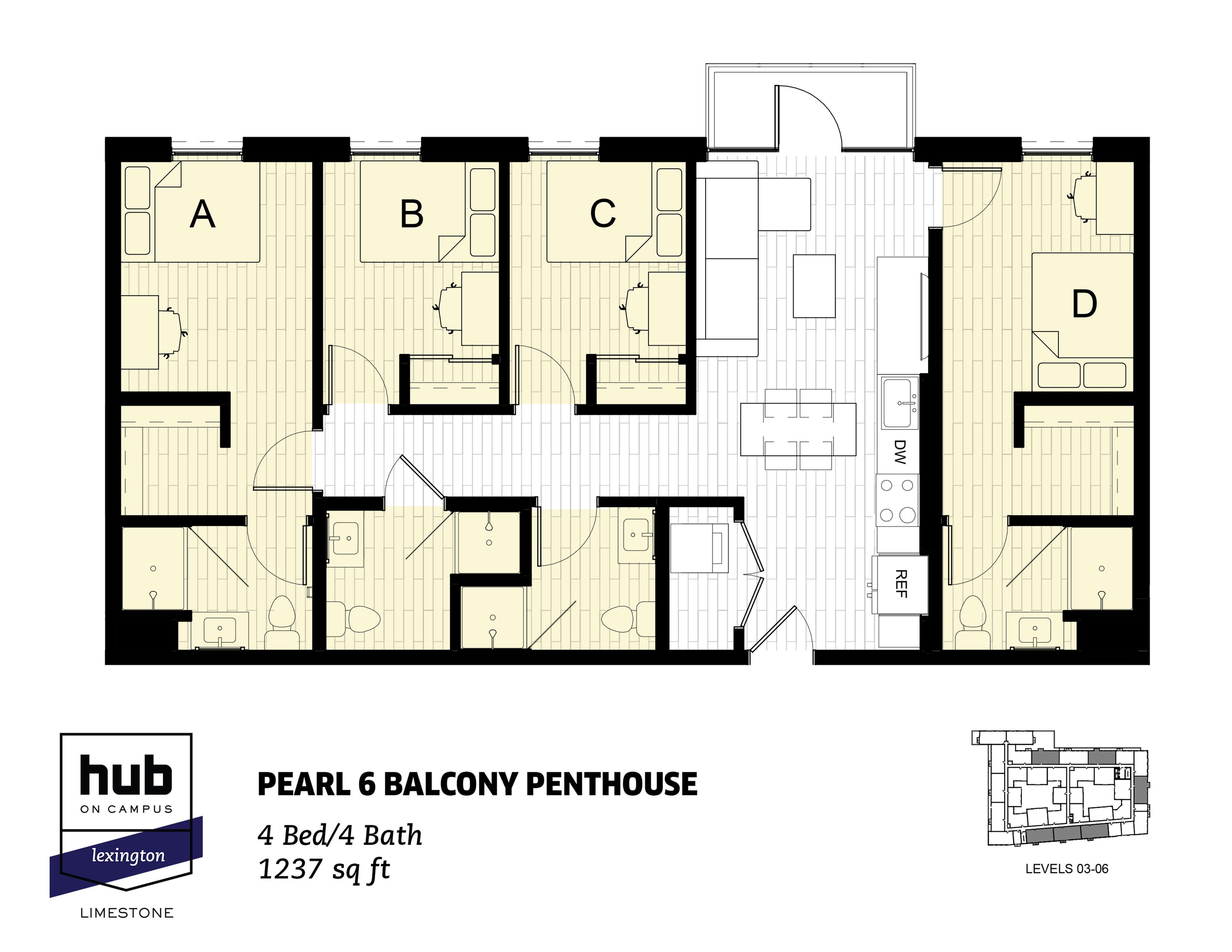 Pearl 6 Balcony Penthouse