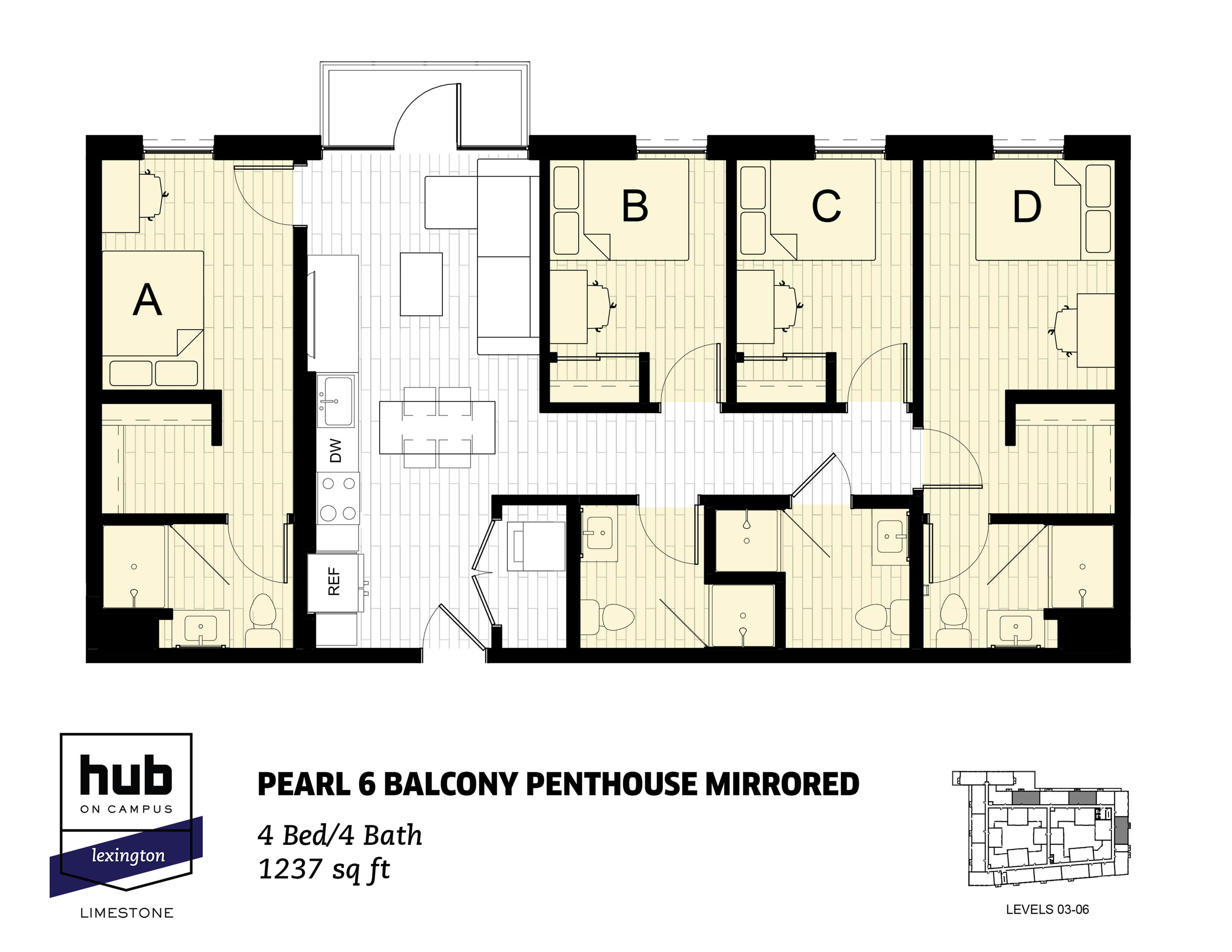 Pearl 6 Balcony Penthouse Mirrored