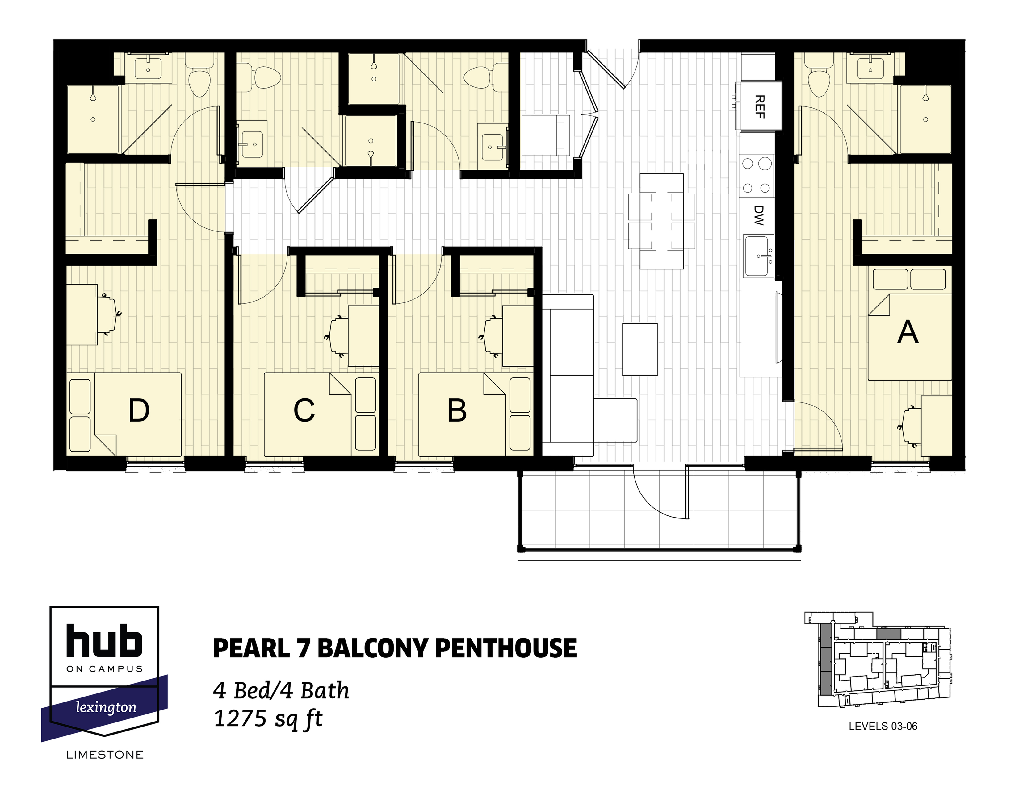 Pearl 7 Balcony Penthouse