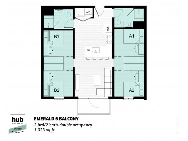 Emerald 6 Balcony