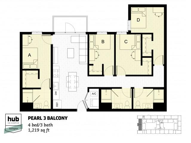 Pearl 3 Balcony