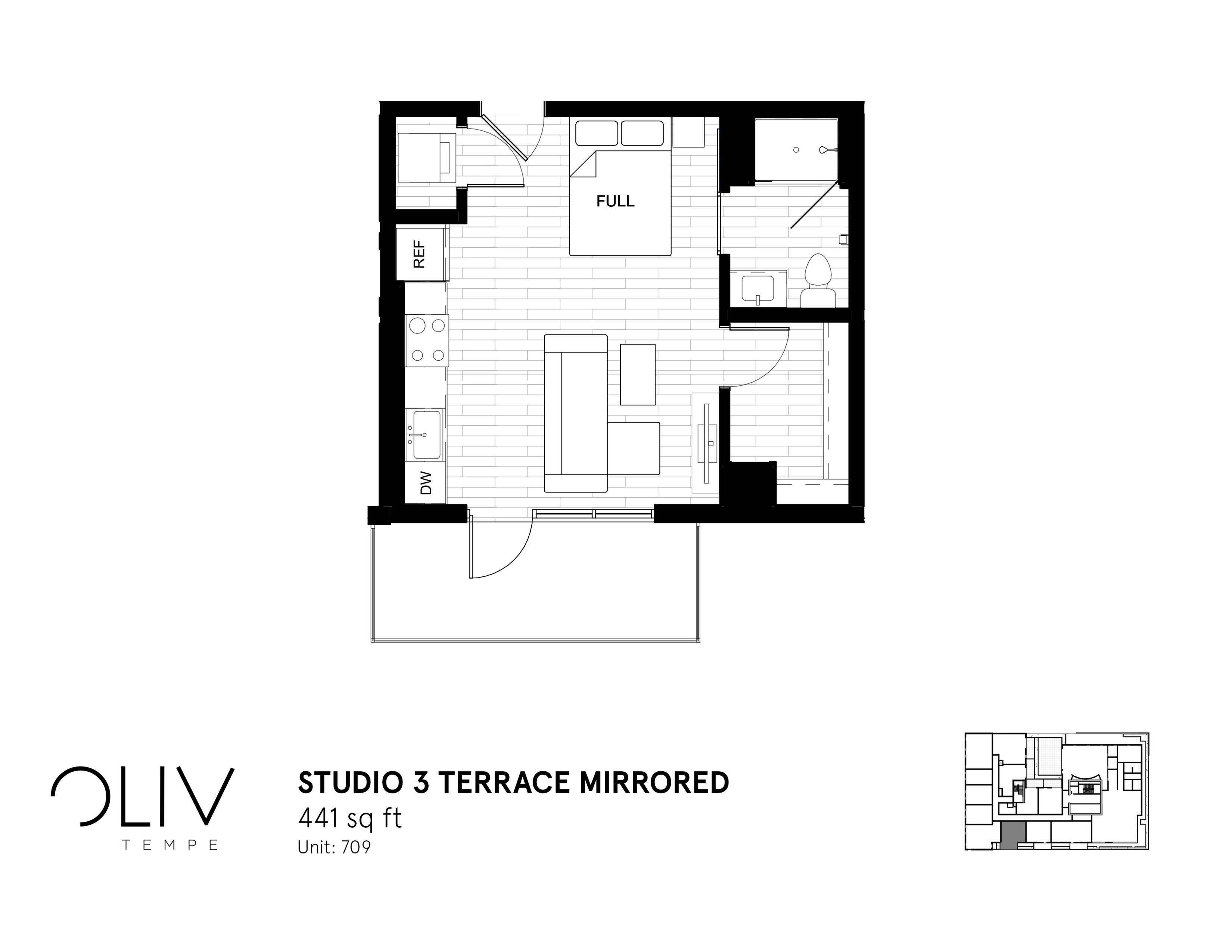 Studio 3 Terrace Mirrored