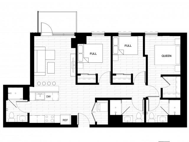 3X3 A Oasis Balcony