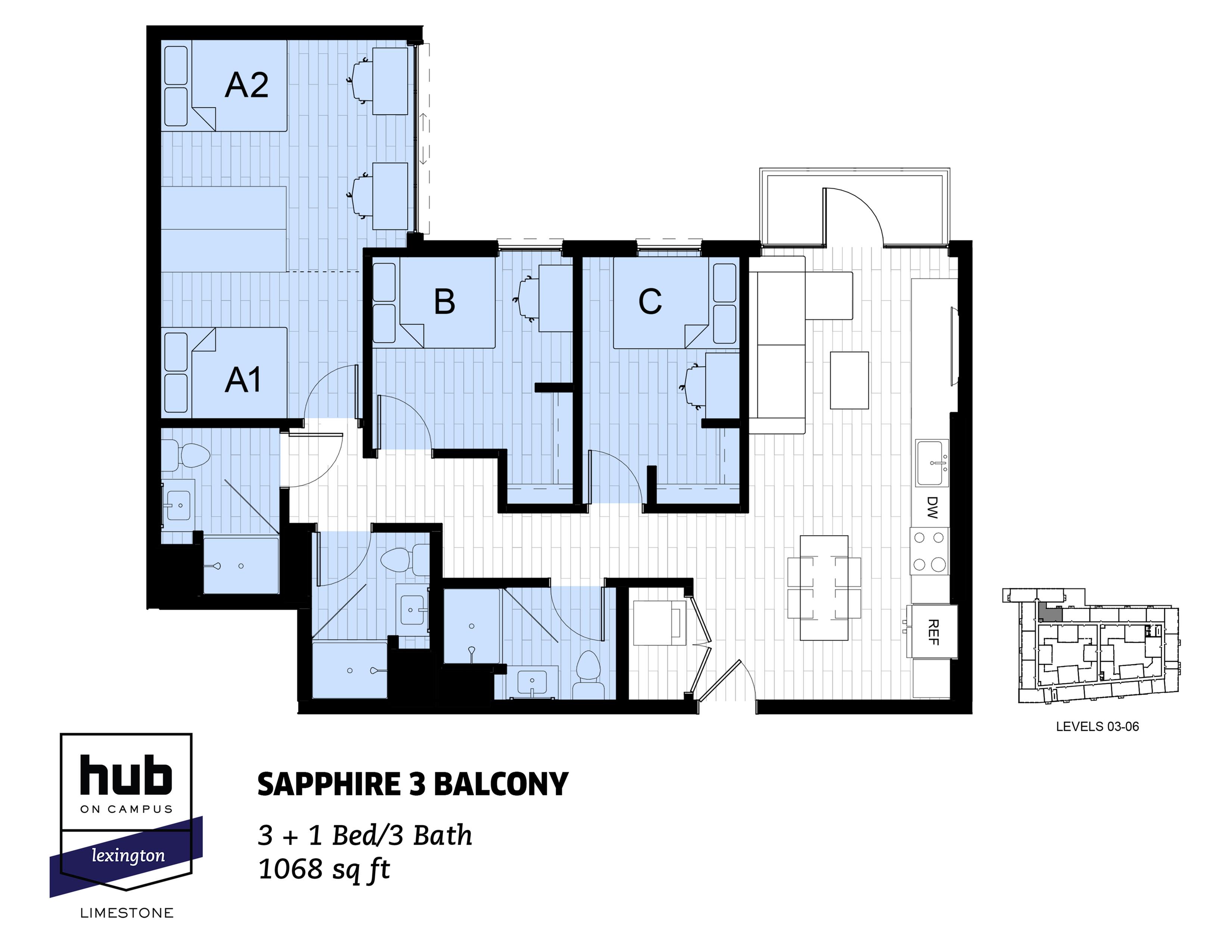 Sapphire 3 Balcony