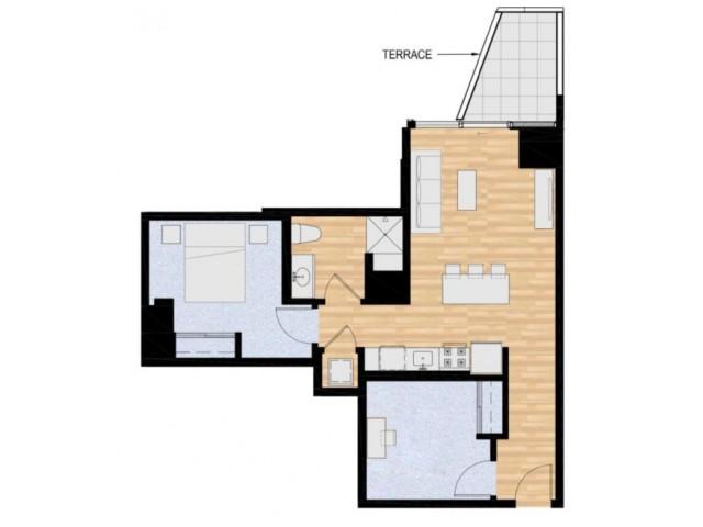 1x1 B w/ Den - Mansion