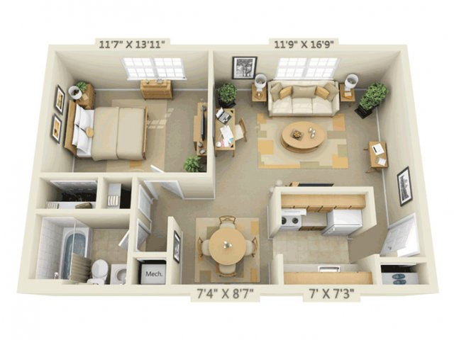 0 For The 1 Bedroom Bath 600 Sq Ft Floor Plan
