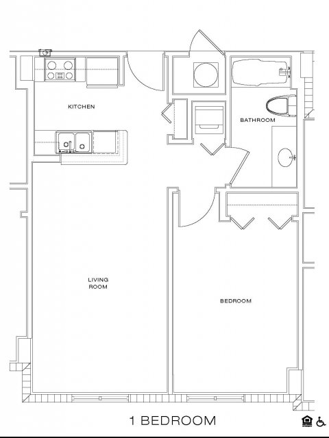 1 - 3 Bed Apartments   Plaza at the Lyric House Plans With Liry on house floor plans, house drawing, house design, house building plans,