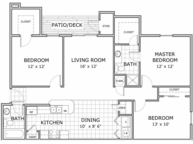 All|Floor Plans3 Bedroom PH1   C
