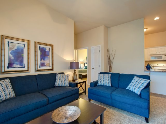 Corporate-Furnished Apartment-TLC Properties-living room-Coryell Commons