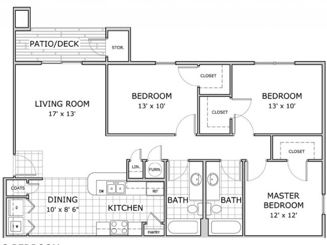 Furnished 3 Bedroom. For The Furnished 3 Bedroom Floor Plan.