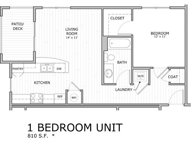 Floor plan image for one bedroom apartment